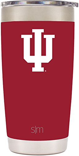 Indiana Mug (Simple Modern 20oz Cruiser Tumbler - Indiana Hoosiers Vacuum Insulated 18/8 Stainless Steel Tailgating Cup Travel Mug - Indiana)