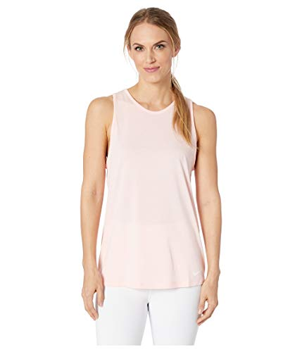 Nike Women's Dry Tomboy Cross-Dye Tank Top (Storm Pink, - Sleeveless Nike Body