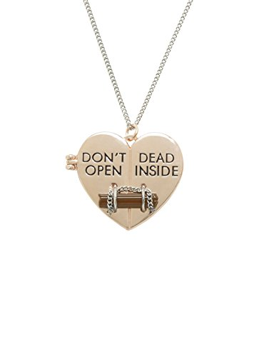 The Walking Dead Don't Open Dead Inside Necklace]()