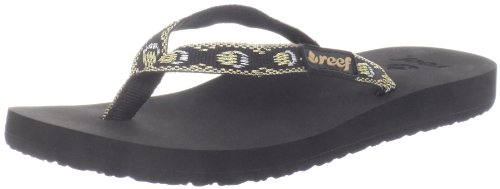 Reef GINGER BLACK/METALLIC R1660BML - Chanclas para mujer Negro (Schwarz (Black (BLACK/METALLIC)))