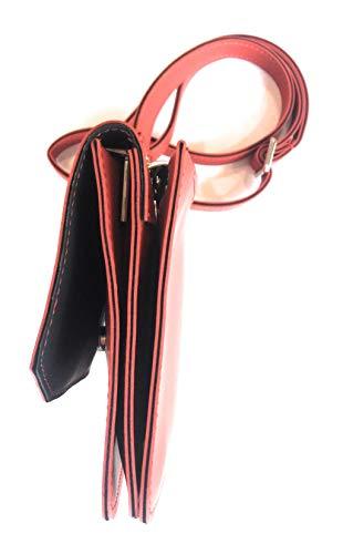 Oeasy Mis 21x15x3 Tessuto Tracolla Rosso Colore Con Obag Gommato R4Cfwdxd