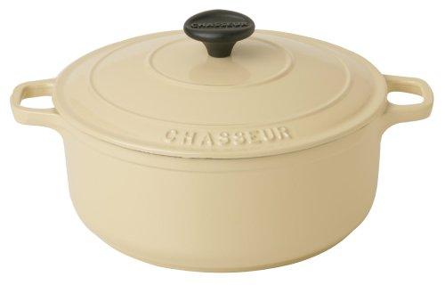 Chasseur Cast Iron 22cm, 3.0ltr Round Casserole Cream