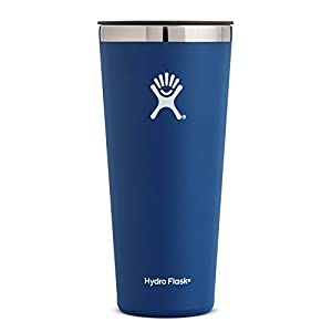 Hydro Flask 32 oz Double Wall Vacuum Insulated Stainless Steel Travel Tumbler Cup with BPA Free Press-In Lid, Cobalt