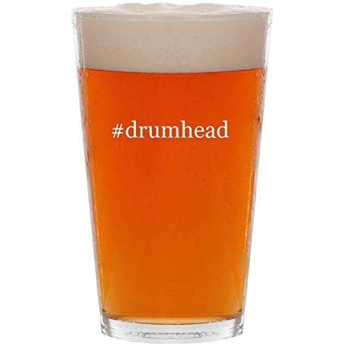 - #drumhead - 16oz Hashtag Pint Beer Glass