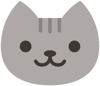 Amazon.com: Divine Designs Cute Gray Kitty Cat Face Emoji Vinyl ...