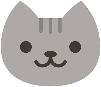 Amazon.com: Divine Designs Cute Gray Kitty Cat Face Emoji Vinyl ...