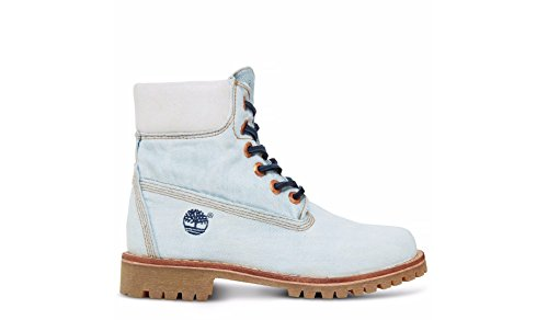 Timberland LTD Fabric 6in NATURAL DENI, WOMAN, Size: 38.5 EU (7.5 US / 5.5 UK)