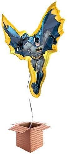PARTYRAMA.CO.UK Globo inflado de Batman con Capa de Aluminio Caja: Amazon.es: Juguetes y juegos