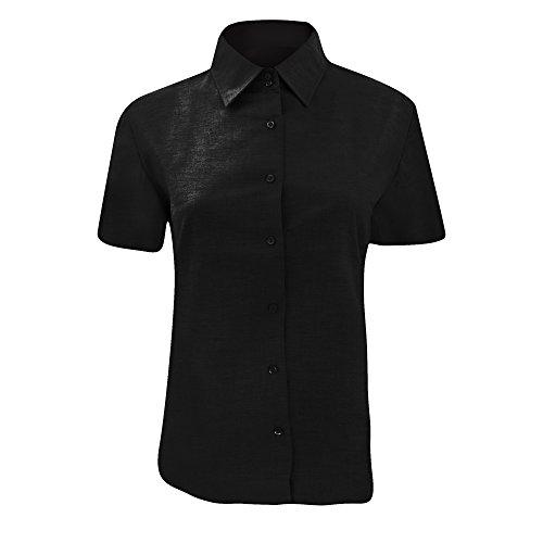 過ちかろうじて飽和する(ラッセル) Russell レディース イージーケア 半袖オックスフォードシャツ ブラウス ワイシャツ 女性用