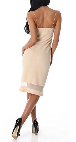 Voyelles - Vestido - para mujer beige large