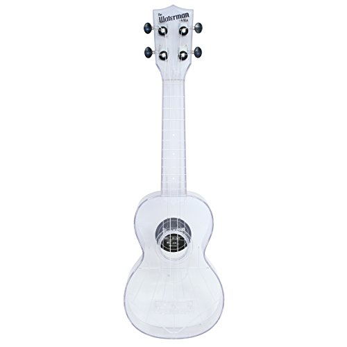 Kala MK-SWT/Clear Makala Waterman Composite Soprano Ukulele in Clear Color by Kala