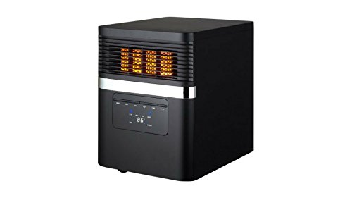 Soleil Quartz Infrared Electric Space Heater, 1500W Infrared Heaters Soleil