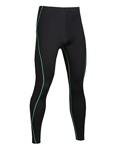 Uomo Base Tights Nero Sports Termico Compressione Strato A Verde Pantaloni Fitness Leggings ukOPZTXi