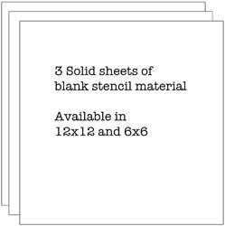 Crafter's Workshop Bulk Buy (3-Pack) Template 12 inch x 12 inch Stencil Sheets TCW-340 by CRAFTERS WORKSHOP
