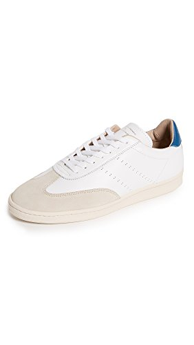 (Zespa Men's ZSP GT APLA Leather Sneakers, White/Massillia, 40 M EU)