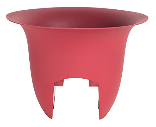 Bloem Modica Deck Rail Planter 18'' Union Red by Bloem