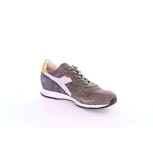 Diadora Heritage - Sneakers MI BASKET USED for man and woman Dark Green and Blue geC6f4