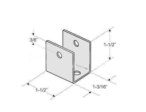 Stainless Steel U Bracket for 1'' Restroom Partition Panels