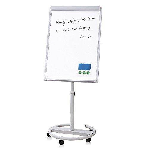 WEYOUNG Magnetic Mobile Whiteboard Dry Erase Board Adjustable Flipchart Easel-27 1/2