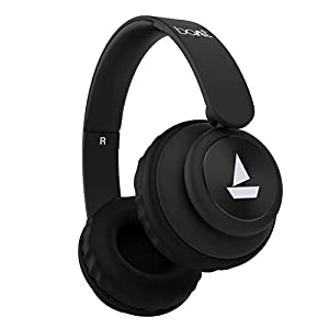 boAt Rockerz 450 Wireless Bluetooth Headphone with Up to 8H Playback, Adaptive Lightweight Design, Immersive Audio, Easy Access Controls and Dual Mode Compatibility (Luscious Black)