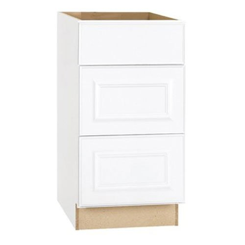 RSI HOME PRODUCTS SALES CBKDB18-SW White Finish Assembled Drawer Base Cabinet, 18