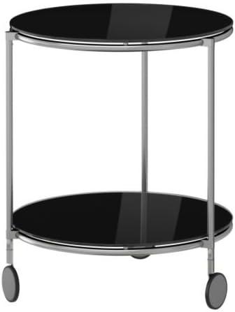 Ikea STRIND - Mesa Auxiliar, Negro, niquelado - 50 cm: Amazon.es ...