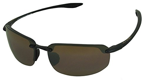 Maui Jim boysgirl's Ho'okipa H407-02 | Polarized Rimless with Patented PolarizedPlus2 Lens Technology, HCL Bronze Lenses, 64mm Width/40mm Height/15mm Bridge