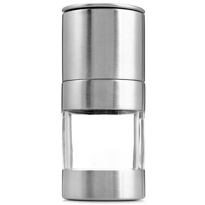 (uHomee Stainless Steel Manual Salt Pepper Mill Grinder Seasoning Cooking Tools)