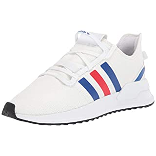 adidas Originals Men's U_Path Run Sneaker, White/Team Royal Blue/Lush Red, 4.5