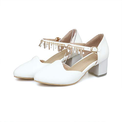 Blanc Compensées EU 5 Femme EYR00278 Sandales 36 Blanc Aimint wAxHIqnBn