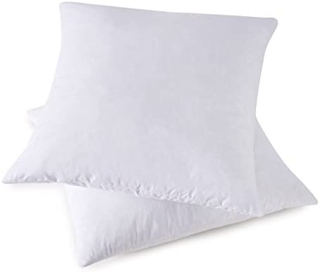 Amazon HOMESJUN Set Of 40 40% Feather 40% Down Square Decorative Mesmerizing 18x18 Down Pillow Insert