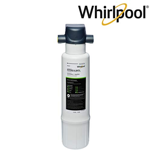 (Whirlpool WHAFFS Under Sink Water Filtration System | Sleek Fit for Kitchen and Bathroom | Easy To Replace UltraEase Filter Cartridges, Blue)