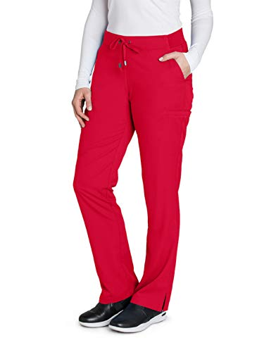 Grey's Anatomy 4277 Straight Leg Pant Scarlet Red M - Pants Scarlet