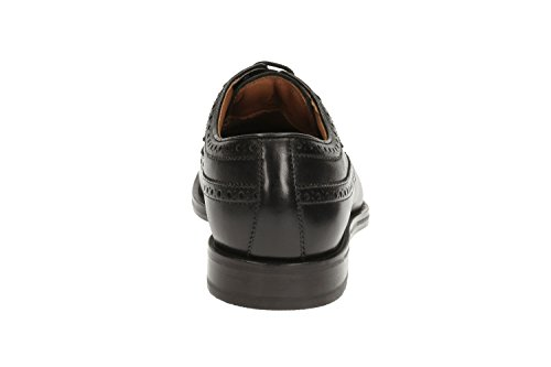 Clarks Coling Limit, Derby Uomo Black Leather