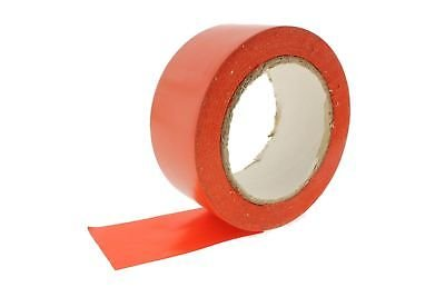 4pk 2'' Orange Durable Rubber Adhesive PVC Vinyl Sealing Coding Warning OSHA Caution Marking Safety Electrical Removable Floor Tape (1.88IN 48MM) 36 yard 7 mil