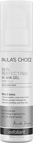 Paula's Choice--SKIN PERFECTING 8% AHA Gel Exfoliant with Glycolic Acid Chamomile & Green Tea--Normal to Dry Skin, Fine Lines--1-3.3 oz Pump Aha 8% Face