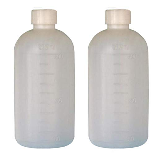 Empty Cylinder Storage - 3PCS Empty Plastic Semitransparent Cylinder Shaped Graduated Laboratory Chemical Agent Bottle Storage Container Pot Scale Bottles (500ML 17oz))