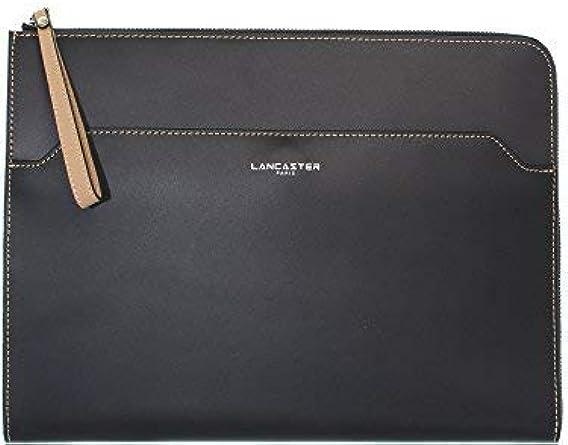 LANCASTER Pochette cuir ref_lan42477 noir: