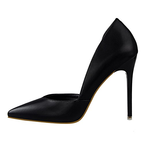 Stiletto No Women's High Dress 66 Pump Town Toe Pointed Black Heel D'Orsay BAxnx7r