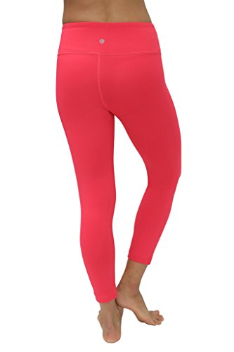 90 Degree By Reflex Yoga Capris - Yoga Capris for Women - Hidden Pocket-Cereza-XS by 90 Degree By Reflex (Image #2)