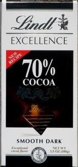 (Lindt Excellence Bar (Dark Chocolate 70% Cocoa) - Pack of 4 )