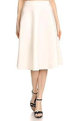 Avital Womens Full A-Line Flared Midi Skirt