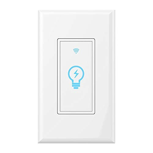 Smart Switch, WiFi Light Switch In-wall Wireless Compatible With Amazon Alexa and Google Home, Timing Function, Suit for 1/2/3/4 Gang Switch Box, Neutral wire require Micmi