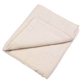 Large No Bleed Through Canvas Cotton Drop Cloth Poly Backed 5 x 12 for All Purpose Painters