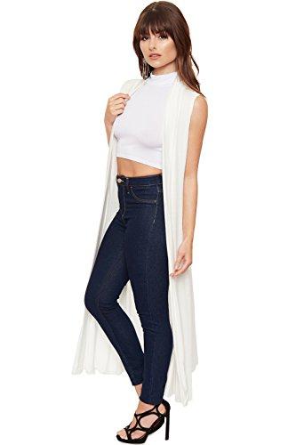 Maxi Manches Cardigans Tailles WearAll Veste Longue Plaine Femmes Cardigan Cr Sans 42 36 Femmes Haut Collier Ouvert wEPXqPOU