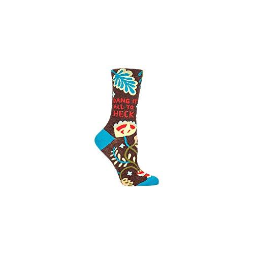 Blue Q Socks Womens Crew Dang It All To Heck