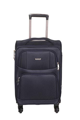 Times Bags 12TB4WS 24 Inch Nylon Fabric Blue Check in Luggage