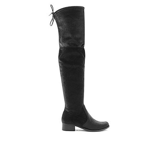 Charles Di Charles David Womens Owen Fashion Boot Black Velvet, 8