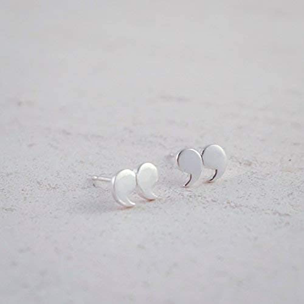 37ff3c81a34a9 Jewelry Sterling Silver Quotation Mark Stud Earrings