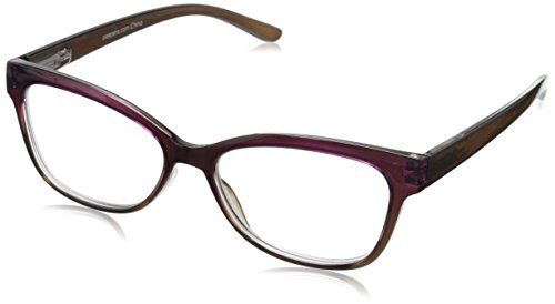 (Peepers Women's Transcendent Oval Reading Glasses, Purple & Bronze, 1.5)